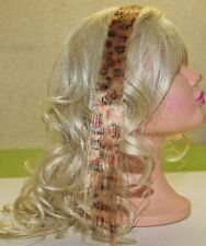 Extension Meche de couleur Rajout Cheveux Clip Impression Leopard Pierre-cedric