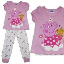 Girls Peppa Pig Cotton Pyjamas T Shirt Top Long Bottoms Ages 2-6 Years