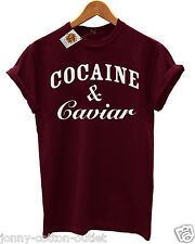 Cocaine & Caviar Mens and Ladies T-Shirt Hipsters with Swag new SALE