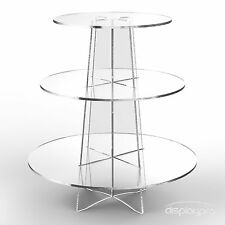 3 Tier Cup Cake Stand Wedding Birthday Party Acrylic Cupcake Display - Round
