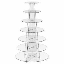 7 Tier Cup Cake Stand Wedding Birthday Party Acrylic Cupcake Display - Scalloped