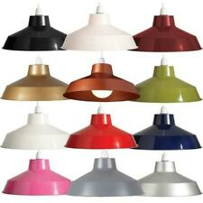 """12"""" Retro Small Metal Coolie Lampshade Ceiling Light Shade Fitting Pendant"""