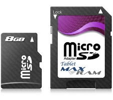 8GB Micro SD Memory Card + SD Adapter for A1CS Fusion5 Tablet & more
