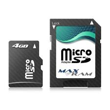 4GB Micro SD SDHC MaxRam Memory Card + SD Adapter FOR Samsung Z550 & more