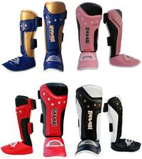 Shin Instep Pads MMA Kick Boxing Protector For junior Kids Muay Thai Shin