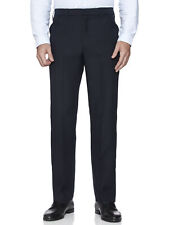 Mens Farah Classic Traditional Hopsack Frogmouth Trousers Anti Stain