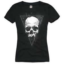 Tattoo Skull Damen T-Shirt totenkopf bike motorrad usa metal death vintage rock
