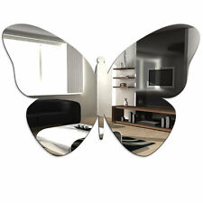 Butterfly Acrylic Mirror - Home Bathroom Bedroom Childrens Wall Shatterproof