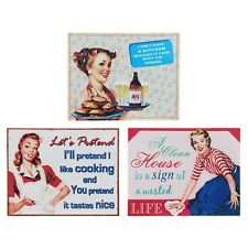 Gift Novel Vintage Shabby Chic Tin Kitchen Metal Signs