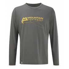 Mountain Equipment Groundup LS Tee, Gr. S, Langarm-Herrenshirt, shadow grey