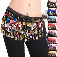 Cintura per bellydance danza del ventre belly dance belt MONETE Colourful