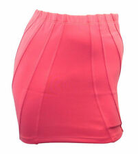 ASOS peach scuba stretchy mini skirt with stitched detail size 12