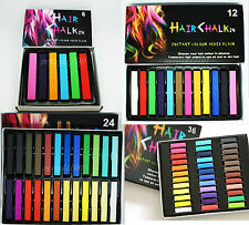 Hair Chalk Pastel Set Temporary Colour Dye Wash Out 6 12 24 or 36 Box non-toxic