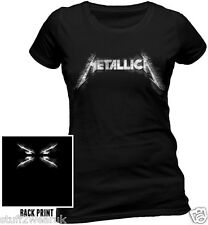 Metallica Sliced Logo T Shirt Official Womens Large XL