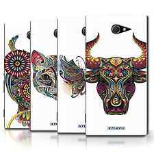 STUFF4 Phone Case/Back Cover for Sony Xperia M2 /Ornamental Animals