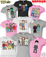 VIPwees Ladies T-Shirt Horror Movie Inspired Caricatures Choose Your Design