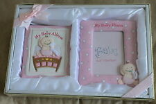 New My Baby Photo Album and Frame Christening Gift Set in Pink or Blue FREE P&P