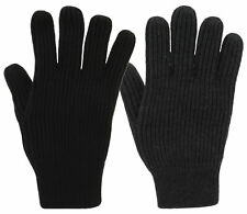 Mens Waffle Heavy Knit Gloves One Size