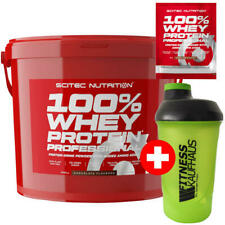 Scitec Nutrition 100 % Whey Protein Professional 5000g Eiweiss + Shaker + Probe