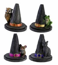 Halloween Smoking Incense Witch Hat Cat Cone Holder Burner Wiccan Pagan Gothic