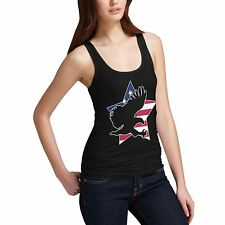 Women's American Flag Star And Eagle Tank Top