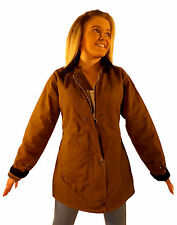 Campbell Cooper New Ladies Fitted Wax Cotton Jacket Tan Brown 8 10 12 14 16
