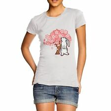 Women Novelty Cotton Cute Animal Design Bunny Rabbit T-Shirt