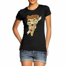 Twisted Envy Women's Pizza My One True Love Organic Cotton T-Shirt