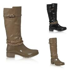 WOMENS WELLIES FESTIVAL WELLINGTON RAIN KNEE HIGH WELLY LADIES  BOOTS SHOES