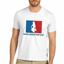 Men Cotton Novelty Funny Print Major League Porn Star T-Shirt