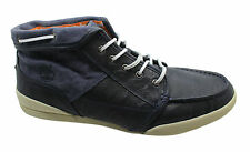 Timberland EarthKeeper Chukka Mens Hi Top Trainers Navy Blue Leather 5263R D49