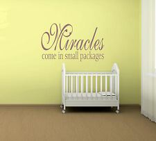 Miracles Come In Small Packages....Quote Vinyl Wall Art Sticker,Decal Any Room