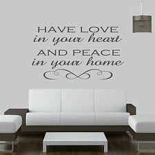 Have Love In Your Heart.....Quote Vinyl Wall Art ,Sticker,Decal Any Room