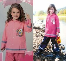 Regen Set Hose Jacke Schlümpfe Schlumpfine Pink Hello Kitty 98/104 110/116 122