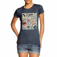 Twisted Envy Women's Abstract Circle Pattern 100% Organic Cotton T-Shirt