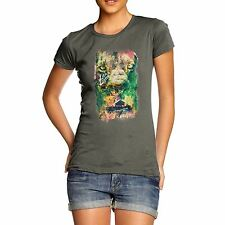 Twisted Envy Women's Lion Zion 100% Organic Cotton T-Shirt
