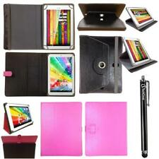 Rotating Stand Leather Wallet Case Cover Folio for 9.7 10.1 inch Tablet + Stylus