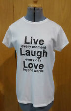 Ladies Fashion T-Shirt LIVE LAUGH LOVE Print