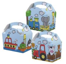 Animal Parade - Childrens Birthday Party Meal Boxes - Lunch Food Gift Cake Box