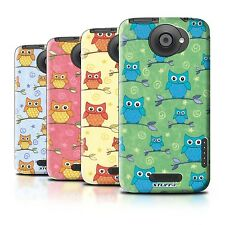 STUFF4 Phone Case/Back Cover for HTC One X /Cute Owl Pattern
