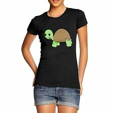 Women Quality Cotton Funky Design Cute Coconut Turtle T-Shirt