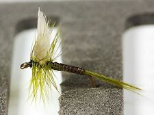 6 Olives Dry Trout Fly Fishing Flies Dun Quill Cow dung Greenwell -Dragonflies