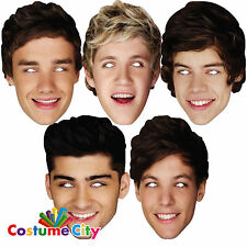 One Direction 1D Official Fancy Dress Face Mask - Harry Liam Louis Niall Zayn