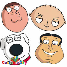 Official Family Guy Fancy Dress Character Face Mask Peter Brian Stewie Quagmire
