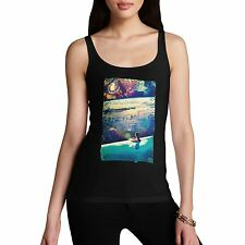 Twisted Envy Women's Galactic Dive 100% Organic Cotton Tank Top