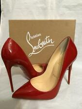 Christian Louboutin PIGALLE FOLLIES 120 Patent Heels Pumps Shoes Rouge De Mars