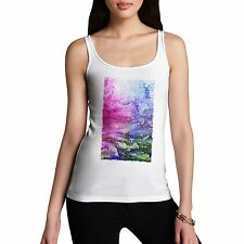 Twisted Envy Women's Abstract Art 100% Organic Cotton Tank Top