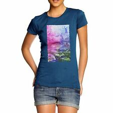 Twisted Envy Women's Abstract Art 100% Organic Cotton T-Shirt