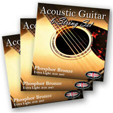 3 PACKS Adagio Pro Acoustic Guitar Strings (010, 011, 012) Phosphor Bronze Sets