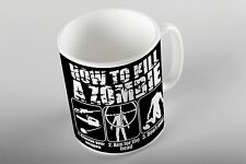 How to kill a zombie Mug Birthday Gifts Present Coffee Tea funny joke undead